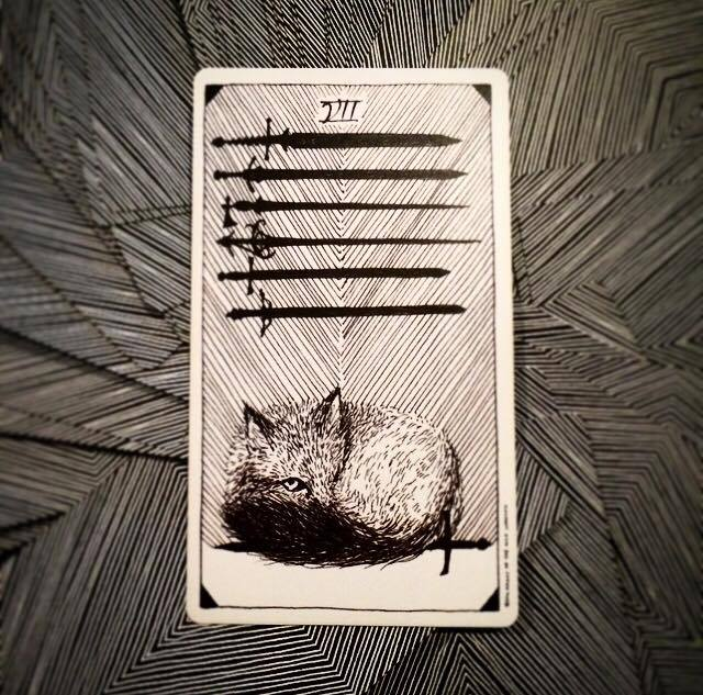 seven of swords the wild unknown tarot
