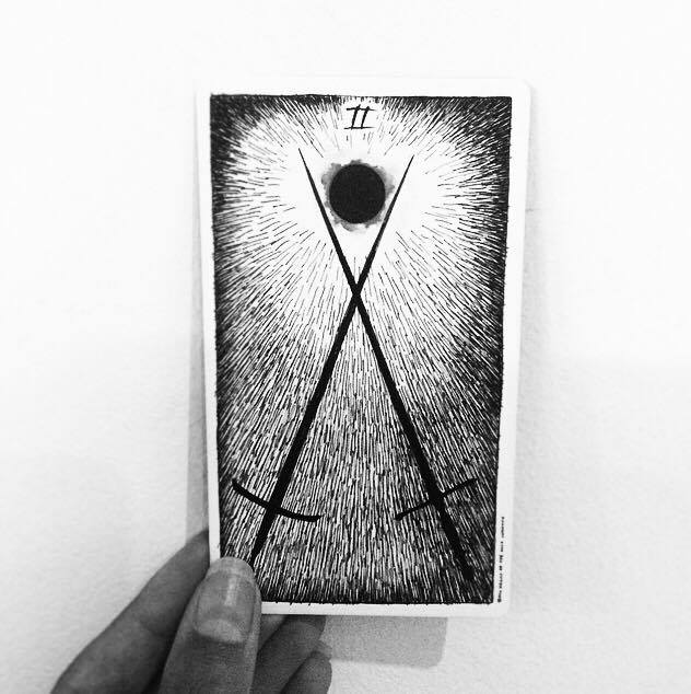 two of swords the wild unknown tarot